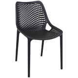 Chaise d'exterieur BLOW noire - Alterego Design