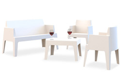 Witte tuinset PLEMO - Alterego Design