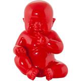 Statue déco BABY rouge - Alterego Design