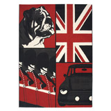 Tapijt MAMA met verschillende motieven van Engeland - Alterego Design