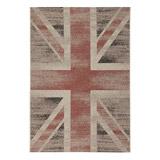 Design tapijt VINTAGE in de kleuren van de Union Jack vlag - Alterego Design