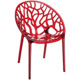 Chaise GEO rouge transparente - Alterego Design