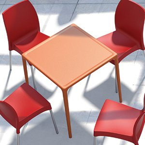 Table carrée de terrasse KUIK