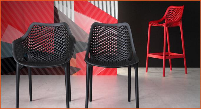 Chaises et tabourets pour interieur et exterieur - Alterego