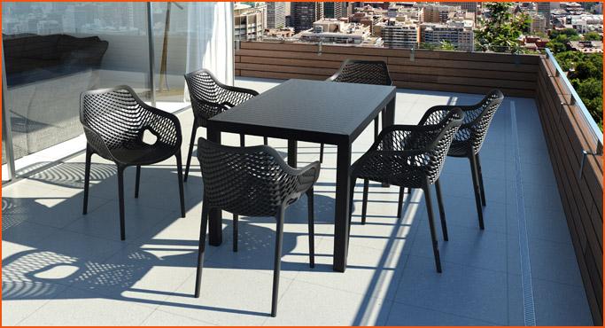 Chaises et tabourets pour exterieur - Alterego