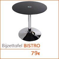 Decoratiehoek meubilair - Ronde bijzettafel BISTRO