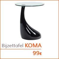 Decoratiehoek meubilair - Design bijzettafel KOMA