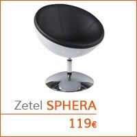 Decoratiehoek meubilair - Bolvormige zetel SPHERA