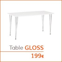 Mon premier appartement - Table GLOSS