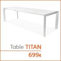 Mobilier de salle à manger - Table TITAN