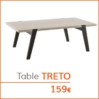 Mobilier de salon - Table basse TRETO