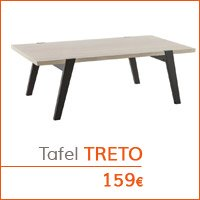 De woonkamer - lage tafel TRETO
