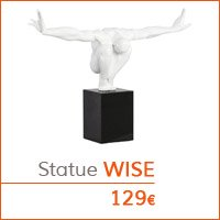 Mobilier de salon - Statue WISE