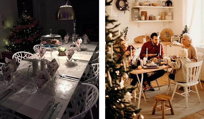 Déco de la table à manger pour Noël - Alterego Design