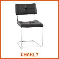 CHARLY zwarte stoel - Alterego nieuwigheden