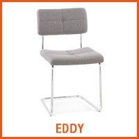 Chaise EDDY grise - Nouveaute Alterego