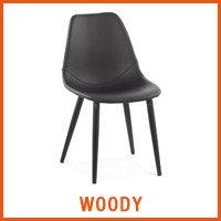 WOODY zwarte stoel - Alterego nieuwigheden