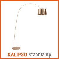 Koperkleurige KALIPSO staanlamp - Alterego nieuwigheden