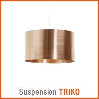 Suspension TRIKO couleur cuivre - Nouveaute Alterego