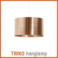 Koperkleurige TRIKO hanglamp - Alterego nieuwigheden