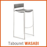 Meubles scandinaves Alterego - Tabouret WASABI