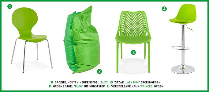 Groen meubilair