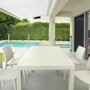 Chaises ENZO blanches - chaises de terrasse
