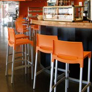 Tabouret de bar MATY orange - professionnel