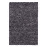 Tapis design CAVA à poils longs gris - Alterego Design