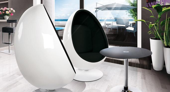 COCOON en PILOT zetels - Alterego Design eivormige fauteuils