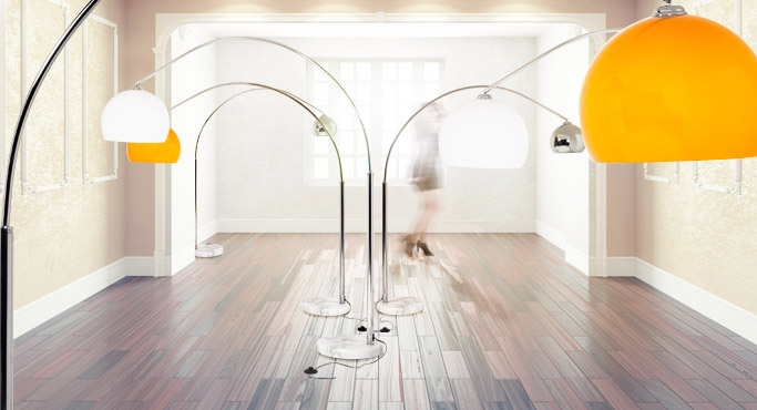 Lampadaire en arc BIG BOW - Alterego Design