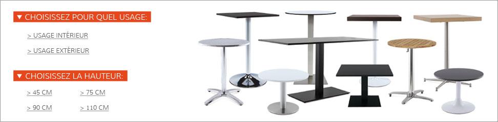 Affinez votre recherche de piétement de table