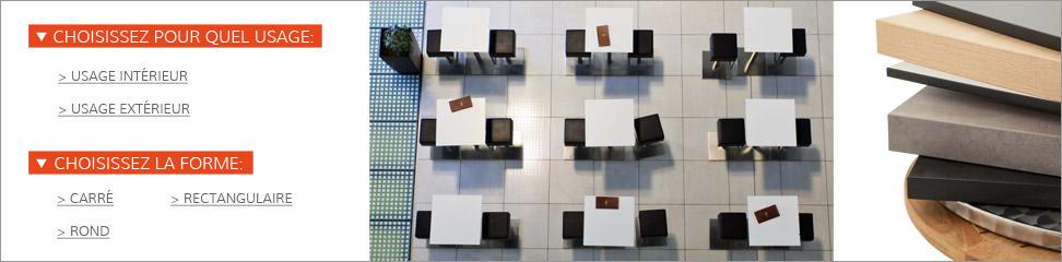 Affinez votre recherche de plateaux de table.