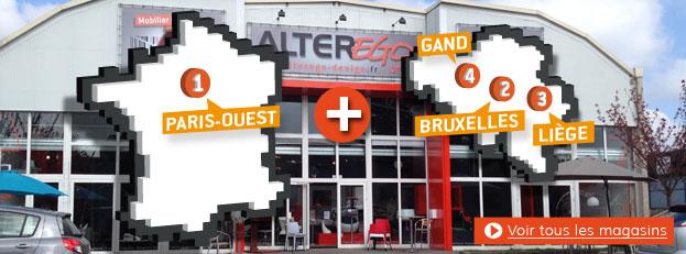 Les magasins de meubles Alterego Design