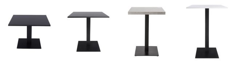 Hoog van Alterego Design tafelvoeten