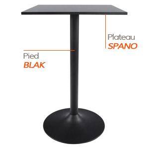 Pied BLAK et plateau SPANO - Table composée Alterego