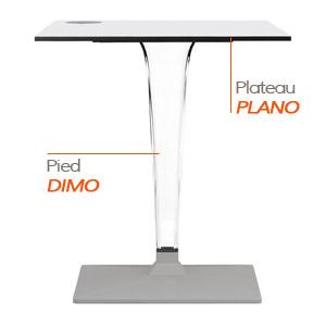 DIMO tafelvoet en PLANO tafelblad - Tafel Alterego
