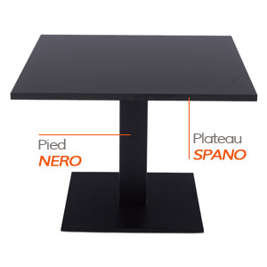 Pied NERO et plateau SPANO - Table composée Alterego