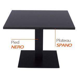 NERO tafelvoet en SPANO tafelblad - Tafel Alterego