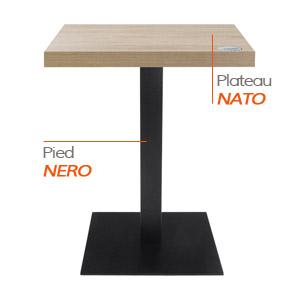 Pied NERO et plateau NATO - Table composée Alterego