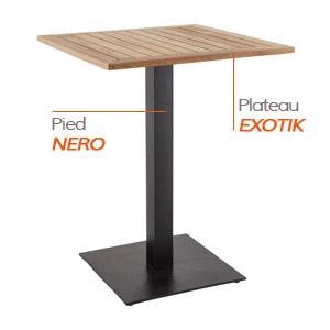 Pied NERO et plateau EXOTIK - Table composée Alterego