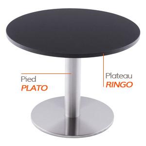 Pied PLATO et plateau RINGO - Table composée Alterego