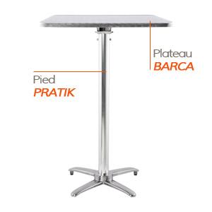 Pied PRATIK et plateau BARCA - Table composée Alterego