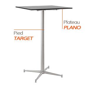 Pied TARGET et plateau PLANO - Table composée Alterego