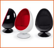 Les fauteuils oeuf Alterego Design