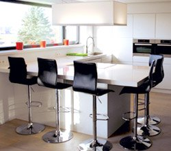 Tabouret de bar design en similicuir ALTO