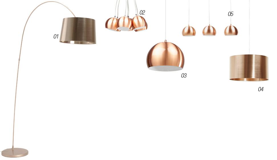 Nieuwe koperkleurige lampen - Alterego Design