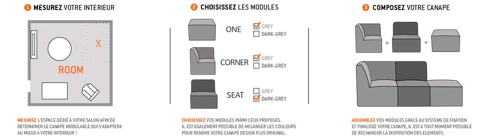 Choisissez votre canapé modulable Alterego Design