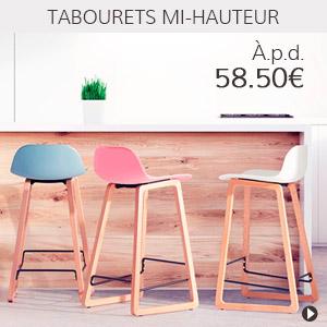 Meubles en soldes - Tabourets snack - Alterego Belgique