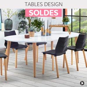 Soldes d'hiver 2018 France - Tables design